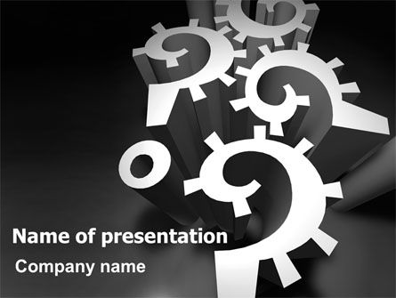 Mechanical Question Marks PowerPoint Template