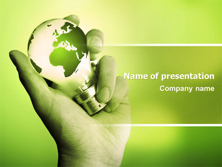 Olive Lamp PowerPoint Template, 07113, Careers/Industry — PoweredTemplate.com