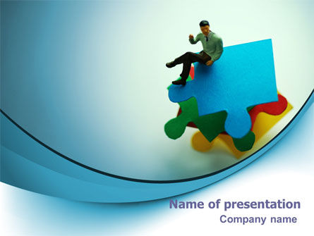 Puzzled Man PowerPoint Template, 07114, Consulting — PoweredTemplate.com