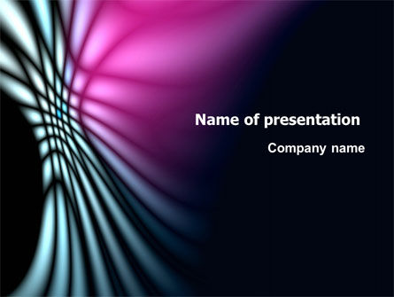 Fuchsia Dark Theme PowerPoint Template