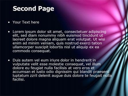 Fuchsia Dark Theme PowerPoint Template, Slide 2, 07116, Abstract/Textures — PoweredTemplate.com