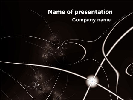 Lines Of Light PowerPoint Template