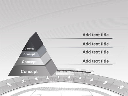 Football Stadium In Light Gray Colors PowerPoint Template Slide 12