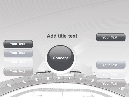 Football Stadium In Light Gray Colors PowerPoint Template Slide 14