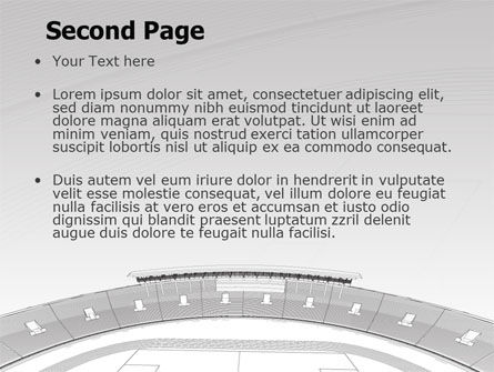 Football Stadium In Light Gray Colors PowerPoint Template Slide 2
