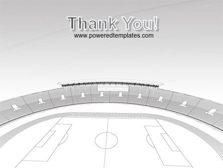 Football Stadium In Light Gray Colors PowerPoint Template Slide 20