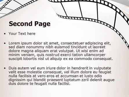Movie Tape PowerPoint Template Slide 2