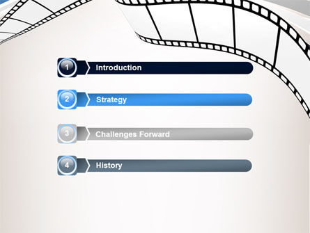 Movie Tape PowerPoint Template, Slide 3, 07120, Careers/Industry — PoweredTemplate.com