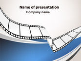 Careers/Industry: Movie Tape PowerPoint Template #07120