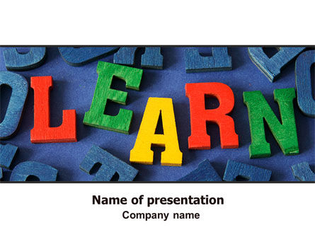 Learn PowerPoint Template, 07122, Education & Training — PoweredTemplate.com