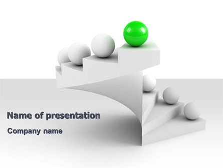 Getting to Top PowerPoint Template, 07123, Business Concepts — PoweredTemplate.com