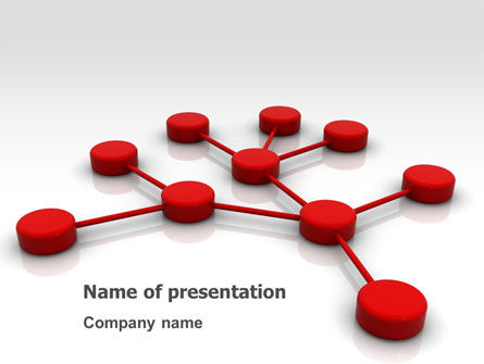 Technology and Science: Network Model PowerPoint Template #07124