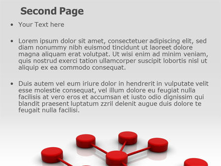 Network Model PowerPoint Template, Slide 2, 07124, Technology and Science — PoweredTemplate.com