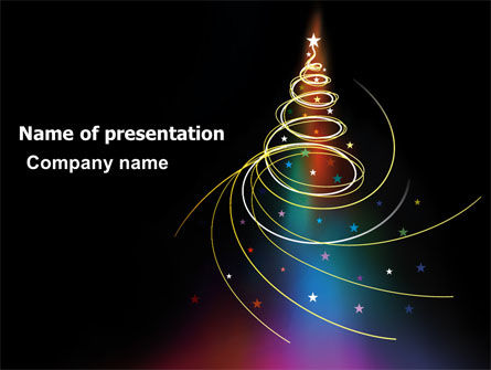 Holiday/Special Occasion: Christmas Tree Design PowerPoint Template #07127