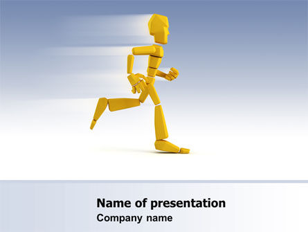 Consulting: Yellow Running Man PowerPoint Template #07128