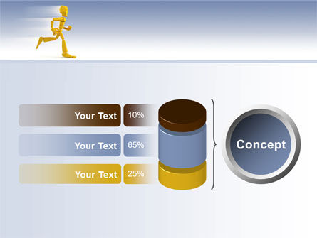 Yellow Running Man PowerPoint Template Slide 11