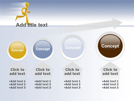 Yellow Running Man PowerPoint Template Slide 13