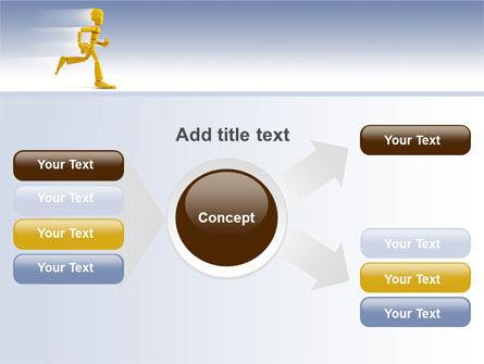 Yellow Running Man PowerPoint Template Slide 14