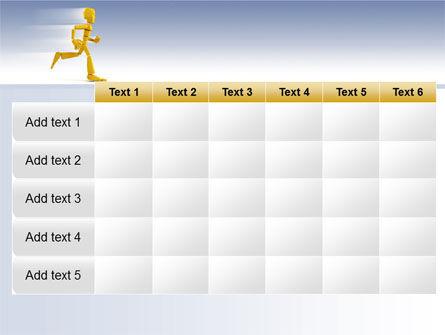 Yellow Running Man PowerPoint Template Slide 15