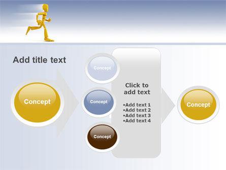 Yellow Running Man PowerPoint Template Slide 17