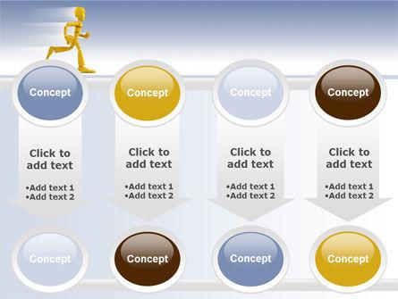 Yellow Running Man PowerPoint Template Slide 18