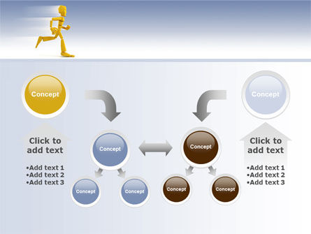 Yellow Running Man PowerPoint Template Slide 19