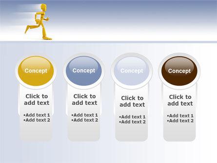 Yellow Running Man PowerPoint Template Slide 5