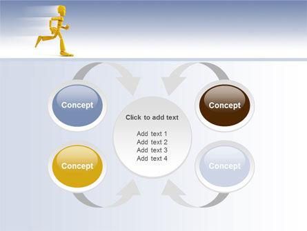 Yellow Running Man PowerPoint Template Slide 6