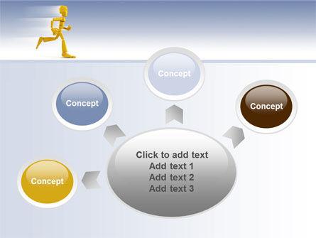 Yellow Running Man PowerPoint Template Slide 7