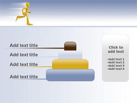 Yellow Running Man PowerPoint Template Slide 8