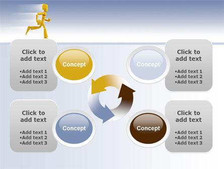 Yellow Running Man PowerPoint Template Slide 9