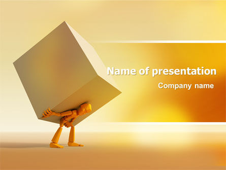 Heavy Burden PowerPoint Template, 07130, Consulting — PoweredTemplate.com