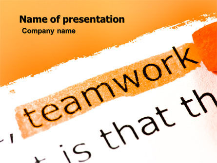 Education & Training: Teamwork Principles PowerPoint Template #07133