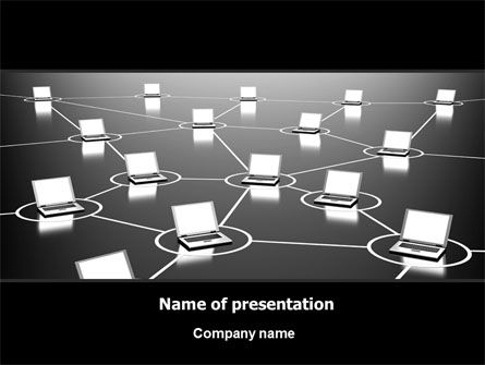 Technology and Science: Computer Web PowerPoint Template #07135