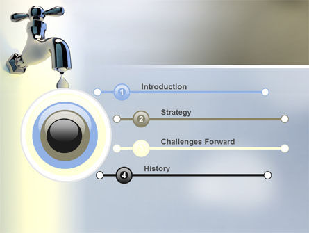 Water Tap PowerPoint Template, Slide 3, 07138, Nature & Environment — PoweredTemplate.com