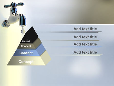 Water Tap PowerPoint Template, Slide 4, 07138, Nature & Environment — PoweredTemplate.com