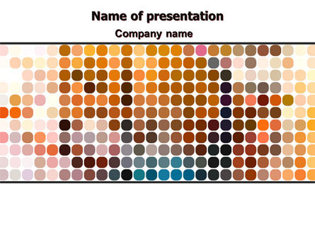 Abstract/Textures: Color Palette PowerPoint Template #07142