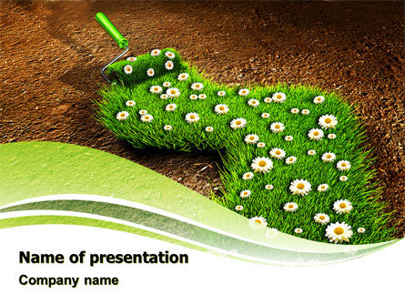 Blooming Path PowerPoint Template, 07145, Nature & Environment — PoweredTemplate.com