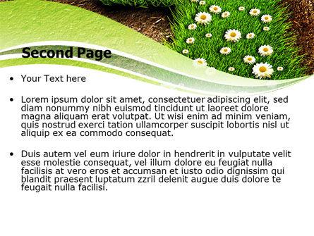Blooming Path PowerPoint Template, Slide 2, 07145, Nature & Environment — PoweredTemplate.com