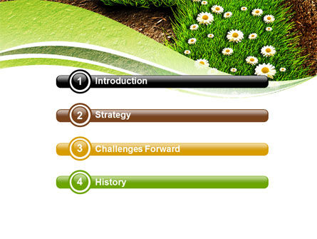 Blooming Path PowerPoint Template, Slide 3, 07145, Nature & Environment — PoweredTemplate.com