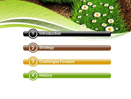 Blooming Path PowerPoint Template, Slide 3, 07145, Nature & Environment — PoweredTemplate.com