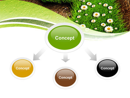 Blooming Path PowerPoint Template, Slide 4, 07145, Nature & Environment — PoweredTemplate.com