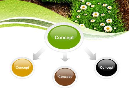 Blooming Path PowerPoint Template, Slide 4, 07145, Nature & Environment — PoweredTemplate.com