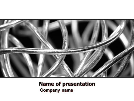 Steel Wires PowerPoint Template, 07146, Abstract/Textures — PoweredTemplate.com