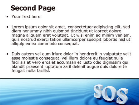 SOS PowerPoint Template, Slide 2, 07150, Consulting — PoweredTemplate.com