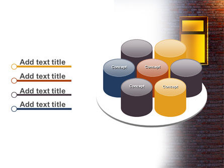 Yellow Window On The Brick Wall PowerPoint Template Slide 12
