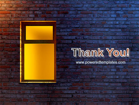 Yellow Window On The Brick Wall PowerPoint Template Slide 20