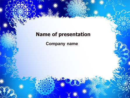 Snowflake Frame PowerPoint Template, 07154, Holiday/Special Occasion — PoweredTemplate.com