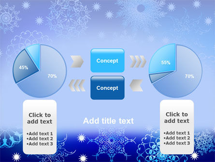 Snowflake Frame PowerPoint Template Slide 11