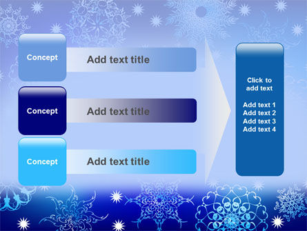 Snowflake Frame PowerPoint Template Slide 12